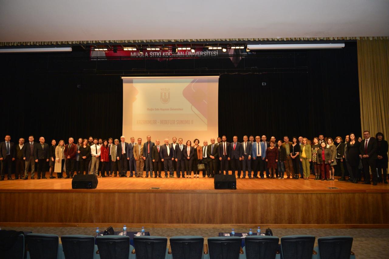 """Rektörümüz Prof. Dr. Hüseyin Çiçek """"Kazanımlar Hedefler"""" Sunumunun 2"""