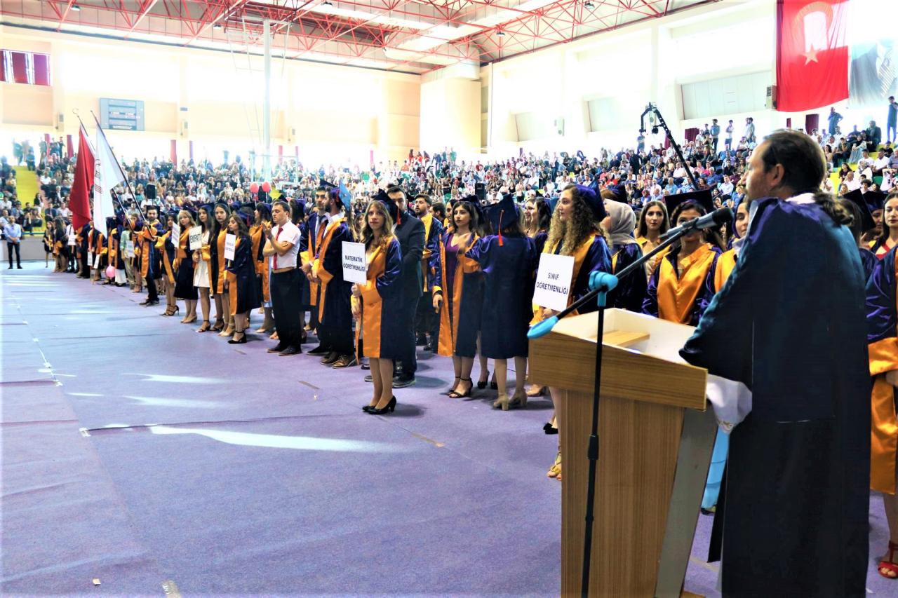 Eğitim Fakültesi Öğrencilerinin Mezuniyet Sevinci
