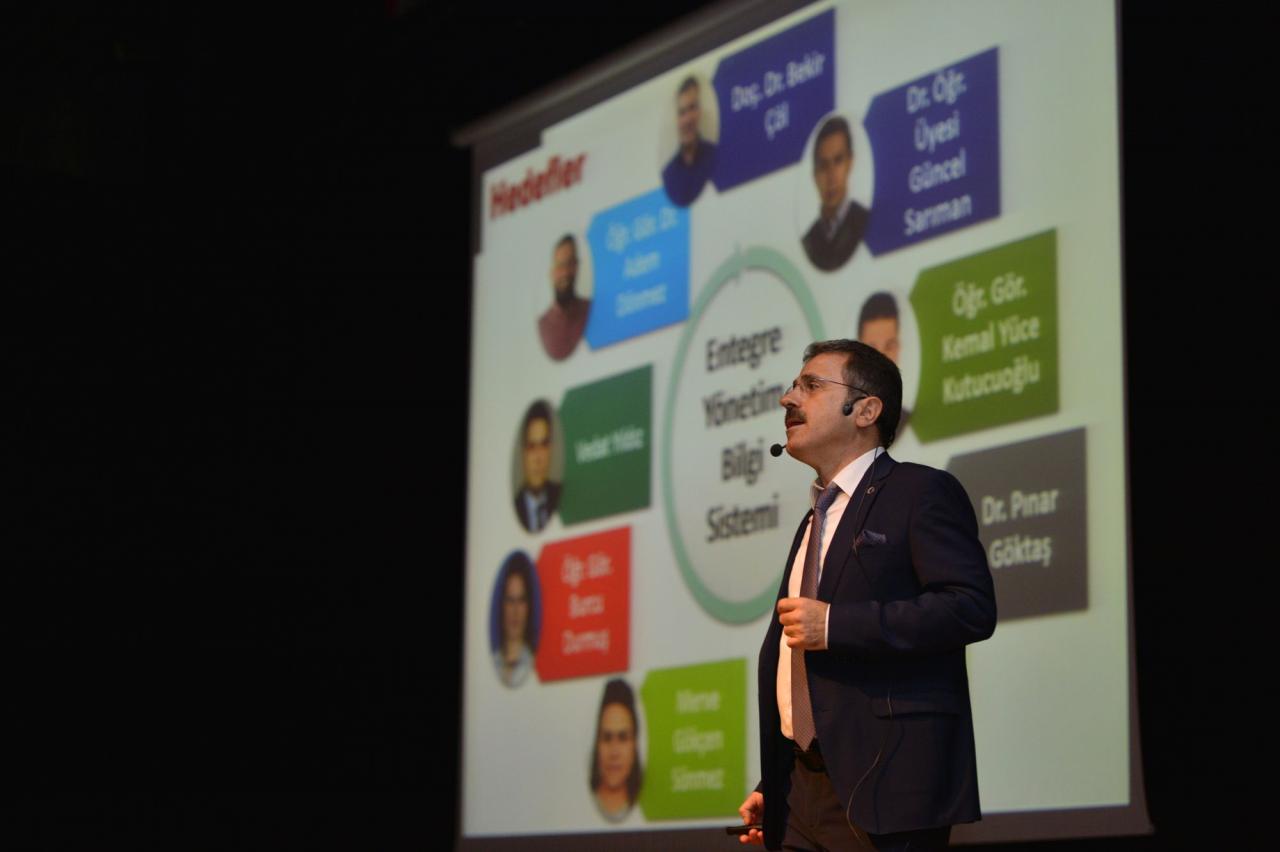 "Our Rector Dr. Hüseyin Çiçek, Gave The Second Presentation in the ""Goals And Achievements "" Presentation Programme"