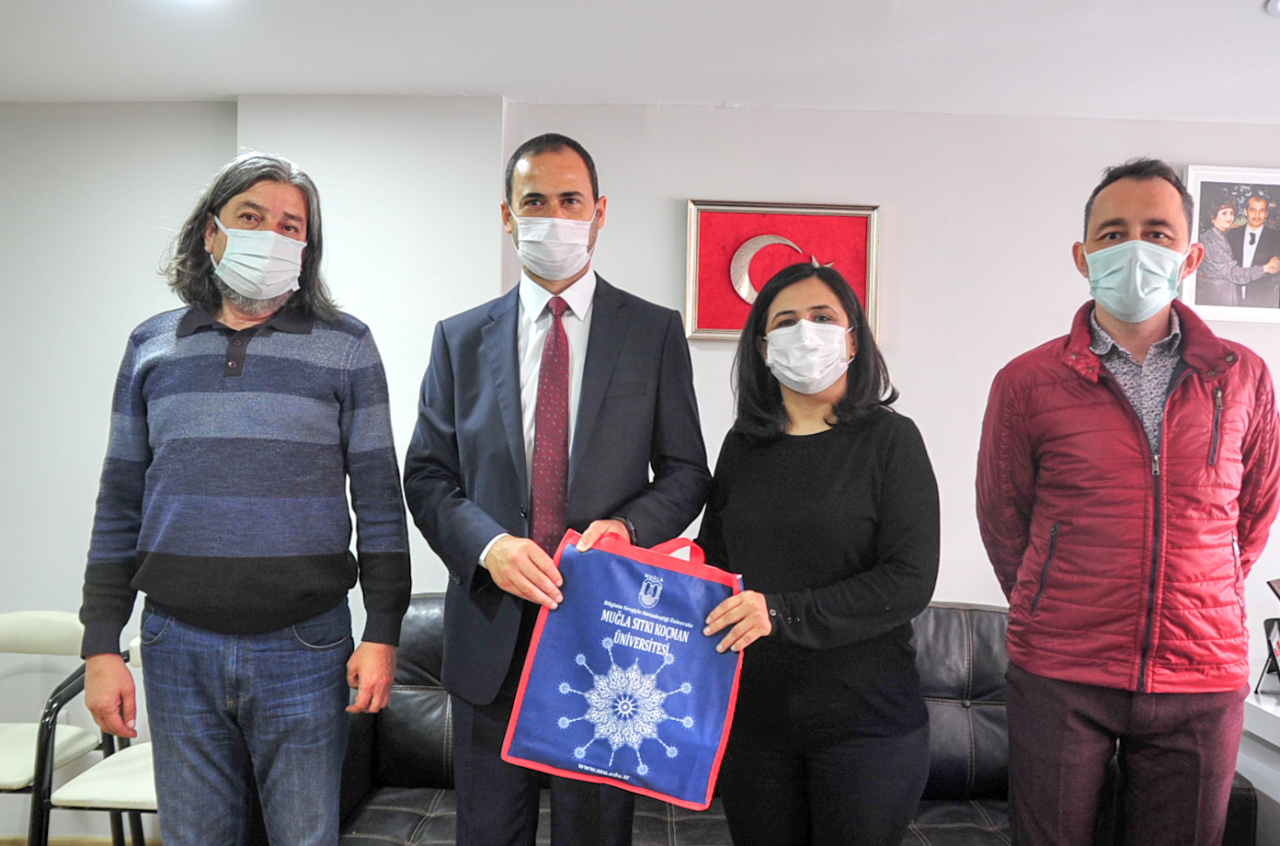 Rektör Yardımcımız Prof. Dr. Artay Yağcı, Muğla Yerel Basınını Ziyaret Etti.