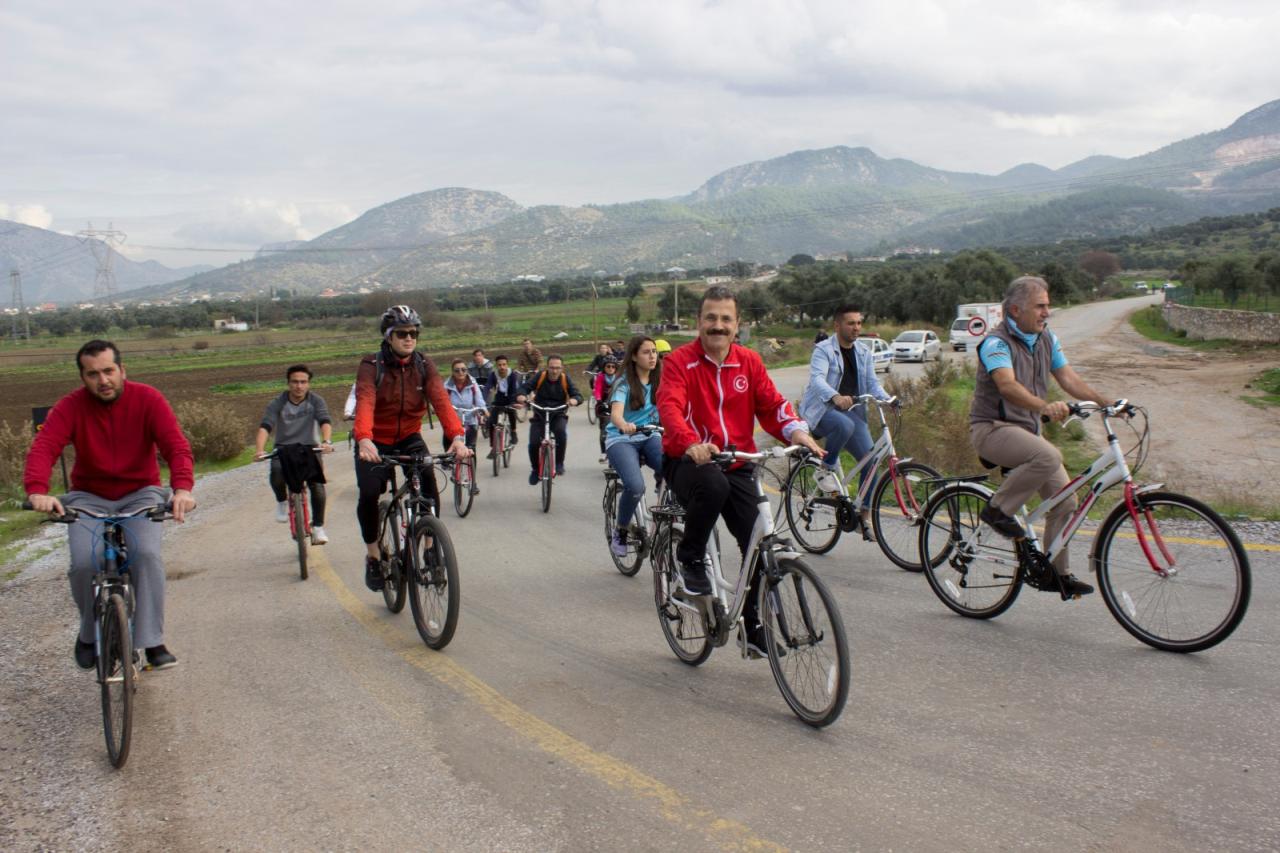 Milas'ta Sağlıklı Yaşam İçin Pedal Çevirdiler